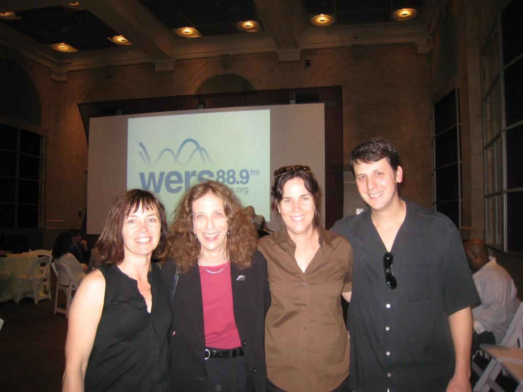 Students Honoring Fran Berger: Kelly Lawman, Fran, Jennifer Amerine, Me
